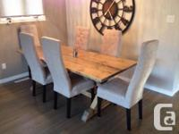 Offering solid wood Handcrafted Dining Tables. 5'-8'