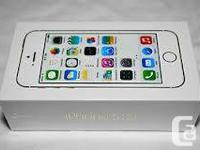 BRAND NEW, sSEALED IN BOX, APPLE IPHONE 5S WHITE COLOR,