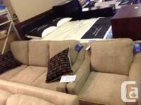 Brand new comfy sofa and chair set..serta