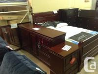Brand new solid mahogany bedroom set. Double/full bed