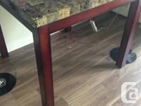New table from leons some scuff marks on corners from