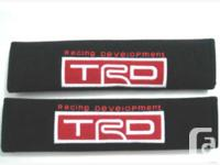 For sale Brand new Toyota TRD Seat belt cushion Cover.