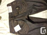 Brand new straight cut true religion mens jeans. Still