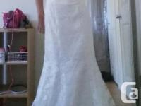 I bought this beautiful all lace wedding dress for my