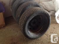 Brand new winter tires and rims.225/50R17. The tires
