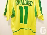 Brasil CBF Soccer No. 11 Ronaldinho Jersey T Shirt -