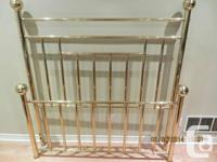 Queen Size Brass Bed  100% Solid Brass!  You can test