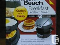 Hamilton Beach Breakfast Sandwich Maker  Brand New.