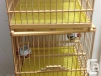 Hello, I have a breeding bird cage for sale which