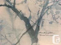 """Brent Heighton Print """"Spring Blossoms"""" Framed, Matting"""