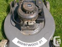 "Brentwood lawnmower 21"" blade Briggs and Stratton 3.5HP"