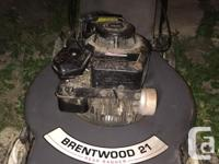 Selling my 21' inch Brentwood rear bagger lawnmower it