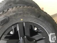 "Bridgestone Blizzak DMV-1 winter tires with 17"" V-Rock"
