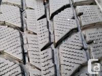Complete set of winter tires - size:195/65R 15. (tires