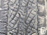 set of Bridgestone Dueler A/T light truck tires