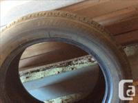 4 tires in very good shape . They were used for about