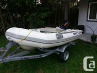 9.5 Foot BRIG rigid hull inflatable for sale on a 2012
