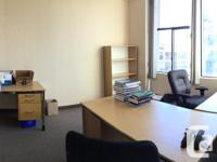 Sq Ft 150 Well lit office with large windows, situated