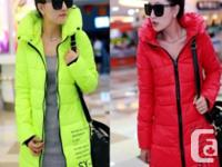 women's winter PUFFER COAT bright, cheerful, hip - $60