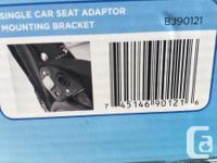 Two car seat adapters for strollers: (1) for peg type