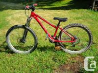 "I have a red Brodie Threat hardtail. 24"" tires. Disc"