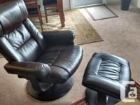 High quality brown leather Swivel Recliner with