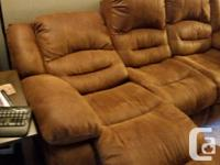 I am selling my microfiber suede couch. Both ends are
