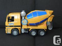 Bruder Cement Mixer Truck, great shape, indoor use