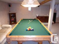 Solid Oak Bradford Pool table professional series 4x8