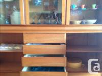 Excellent condition, contemporary design, cherry wood