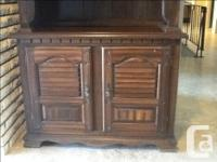 """Solid Wood Buffet and Hutch. Measurements are: 78"""""""