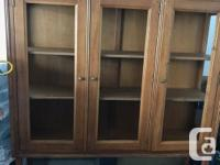 Nice wood buffer hutch furniture with doors and shelf (