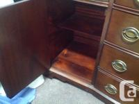 5 feet wide curved front drawers made by Knechtel no