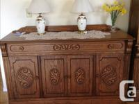 Buffet with large set of Royal Albert Old Country Rose
