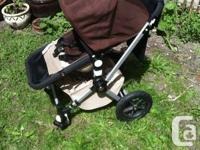 Bugaboo Chameleon stroller for sale. Dark brown and tan