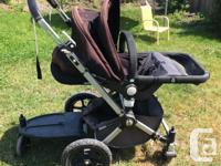 black and grey A great, sturdy stroller Comes with: