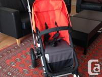 Bugaboo Chameleon Stroller / Pram in Black and Orange.