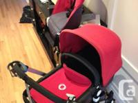 Selling a Bugaboo Fleece Set in Red, and Sun Canopy in