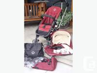 This stroller is in good condition and has many