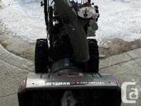 """Craftsman 27"""", 9.5 HP Snowblower. 2 phase blower,"""