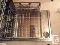Black KitchenAid Built-In Dishwasher in excellent