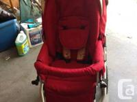 Bumble ride double stroller. Toddler seat connects to