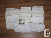 6 Bummies Original diaper cover wraps in white-Size