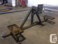 Bumper mount swing out tire carrier with gas could
