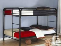 Cost includes metal bunk bed plus 2 foam mattresses.