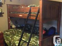 Camp Huntington Bunk Bed with double bed on the bottom