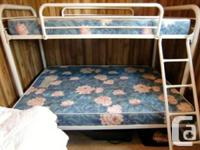 Good condition metal bunkbed frame single over double