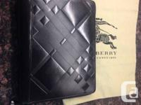 Brand new with dust bag   BURBERRY  iPad cover  Black