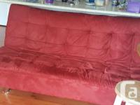 Beautiful couch, folds out to a bed. 71 inches long