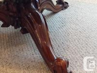 Gorgeous, Round Burl Dining Table. They don't make them